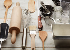 Kitchen baking utensils Royalty Free Stock Image