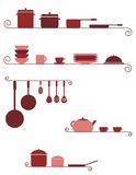 Kitchen banners Stock Photography