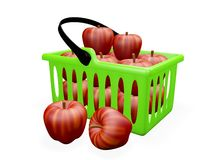 Kitchen Basket full of Red Apples Royalty Free Stock Photo