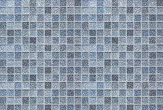Kitchen Bathroom tiles background. Square tiles in shades of silver, blue and grey for use as background Stock Photo
