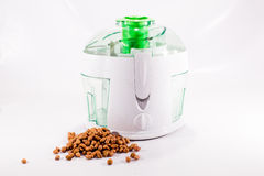 Kitchen blender  and groundnut Royalty Free Stock Images