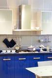 Kitchen blue Stock Image