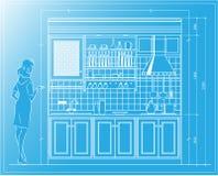 Kitchen blueprint Stock Photo