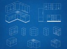 Kitchen Blueprint Royalty Free Stock Photo