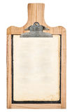 Kitchen board with clipboard for your text and recipe Stock Photos