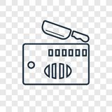 Kitchen board concept vector linear icon on transparent royalty free illustration