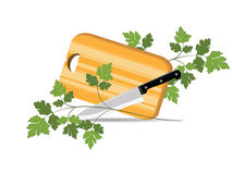 Kitchen board for the cutting. Illustration of kitchen board for cutting the foodstuffs Royalty Free Stock Photography
