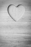 Kitchen board with heart shape as border frame Royalty Free Stock Photo