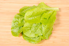 Kitchen board whith salad (Clipping path) Stock Photo