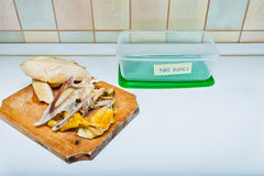 Kitchen bones container for dogs Royalty Free Stock Photos