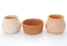 Kitchen bowl. Ceramics kitchen bowls on white background Royalty Free Stock Image