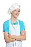Kitchen boy posing Royalty Free Stock Photography