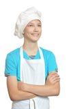 Kitchen boy smiles Stock Image