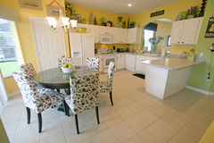 Kitchen and Breakfast Area. A Kitchen and Breakfast Area in a House in Florida Stock Photo