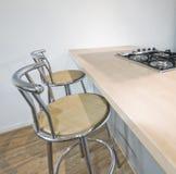 Kitchen with breakfast bar Stock Photo