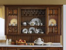 Kitchen buffet with ancient ware Royalty Free Stock Images