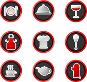 Kitchen buttons. Glossy button series - kitchen buttons Royalty Free Stock Photography