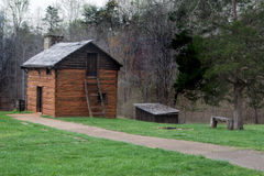 Kitchen Cabin on the Grounds of Booker T. Washington National Monument Royalty Free Stock Photography