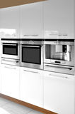 Kitchen cabinet. This is a modern and beautiful kitchen Royalty Free Stock Images