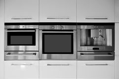 Kitchen cabinet. This is a modern and beautiful kitchen Stock Photo