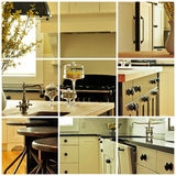 Kitchen cabinet collage Royalty Free Stock Photos