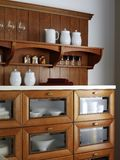 Kitchen Cabinet for dishes Royalty Free Stock Image