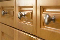 Kitchen Cabinet Drawers royalty free stock photos