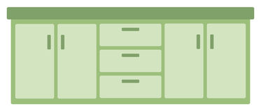 Kitchen cabinet with drawers Royalty Free Stock Photo