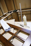 Kitchen Cabinet Shop. Materials used in manufacturing custom kitchen cabinetry Stock Images