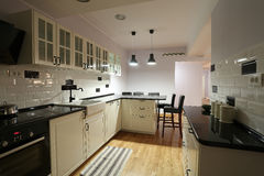 Kitchen cabinets Stock Photography