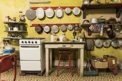 Kitchen in Casa Alonso Havana Royalty Free Stock Photo