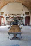 Kitchen of castle Stock Photos