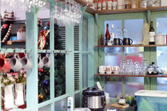 Kitchen of cat museum. Amoy city, china Stock Photo