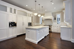 Kitchen with center island Stock Images