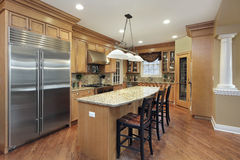 Kitchen with center island Stock Image