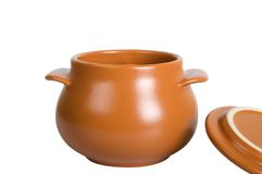 Kitchen ceramic pot Royalty Free Stock Images