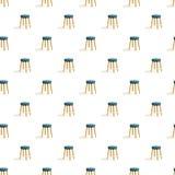 Kitchen chair pattern seamless royalty free illustration