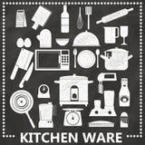 Kitchen by chalk Stock Photos