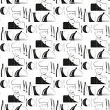 Kitchen. Chef. Restaurant. Seamless pattern. Vector illustration Stock Photos