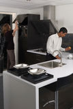 Kitchen chemistry Stock Photo
