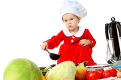 Kitchen child Stock Image