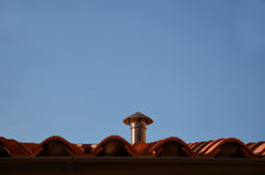 Kitchen chimney. And blue sky Royalty Free Stock Photo