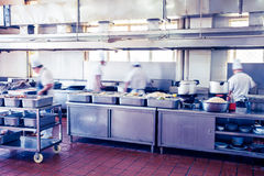 Kitchen of a chinese restaurant Stock Images