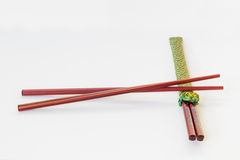 Kitchen: Chopsticks. Isolated on white background Stock Photography