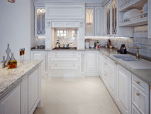 Kitchen in classic style Royalty Free Stock Photo