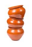 Kitchen clay pots Royalty Free Stock Photo