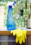 Kitchen cleaning Stock Photo