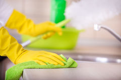 Kitchen cleaning concept Stock Photography