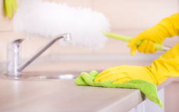 Kitchen cleaning concept Royalty Free Stock Images