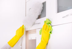 Kitchen cleaning concept Stock Photos